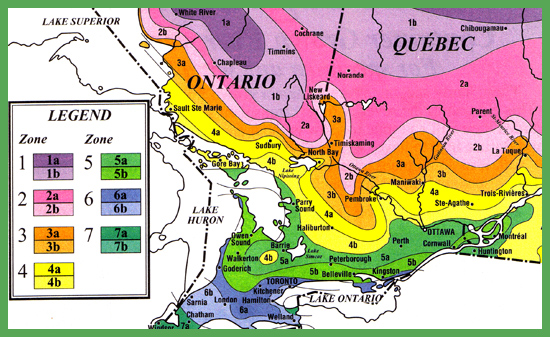ontario tree zone climate map